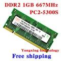 Garantia vitalícia Para A hynix PC2-5300S DDR2 de 1 GB 2 GB 667 MHz Original autêntico DDR 2 1G de memória notebook Laptop de MEMÓRIA RAM SODIMM 200PIN