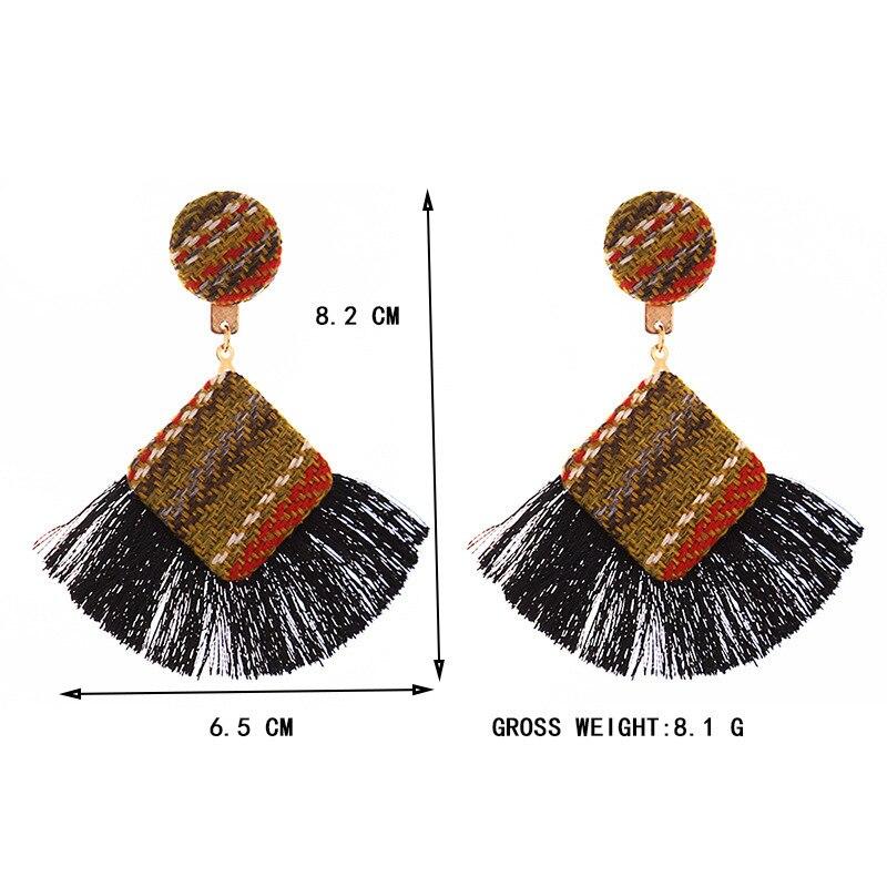 New Arrival Fashion Tassel Earrings for Women 19 Statement Earrings Striped Long Fringe Earrings Girl Birthday Jewelry Gift 1