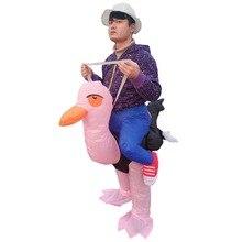 ecab95c5f6de33 Nadmuchiwane strusia kostium dla dorosłych zwierząt ptak Halloween Purim  karnawał Cosplay przebranie na przyjęcie mężczyźni kobi.