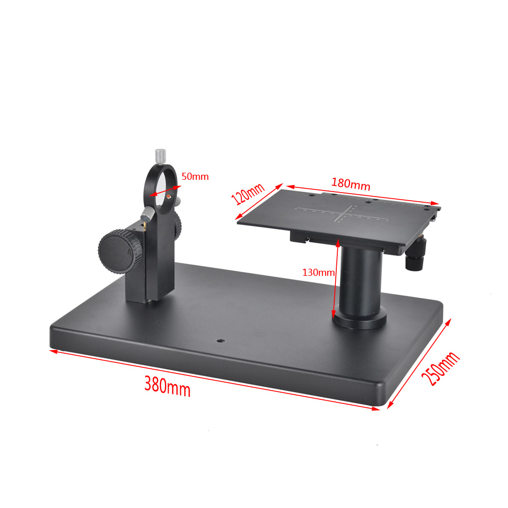 Boom Large Horizontal Stereo Table Stand Heavy Duty Bracket with 50mm Ring For Industrial Lab MicroscopeBoom Large Horizontal Stereo Table Stand Heavy Duty Bracket with 50mm Ring For Industrial Lab Microscope
