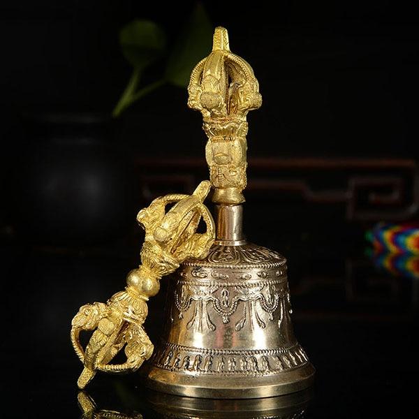 الجملة البوذية المقالات # ممارسة فعالة من التانترا الطقوس # التبتية نيبال البوذية فاجرا فاجرا جرس بوذا تمثال-في التماثيل والمنحوتات من المنزل والحديقة على  مجموعة 1