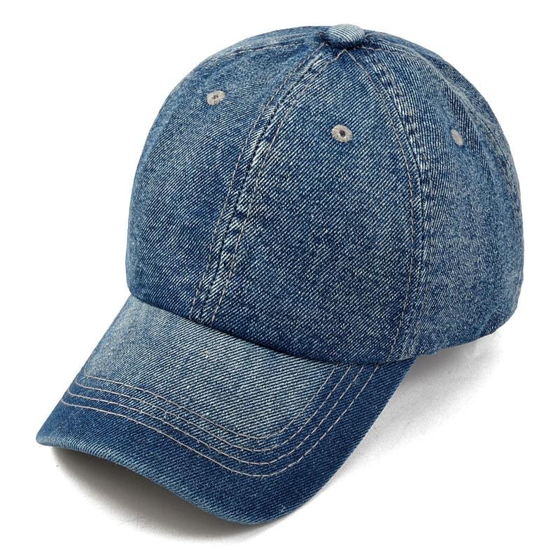 Men Women Vintage Denim Fabric Baseball Cap United States of America Dad Hat