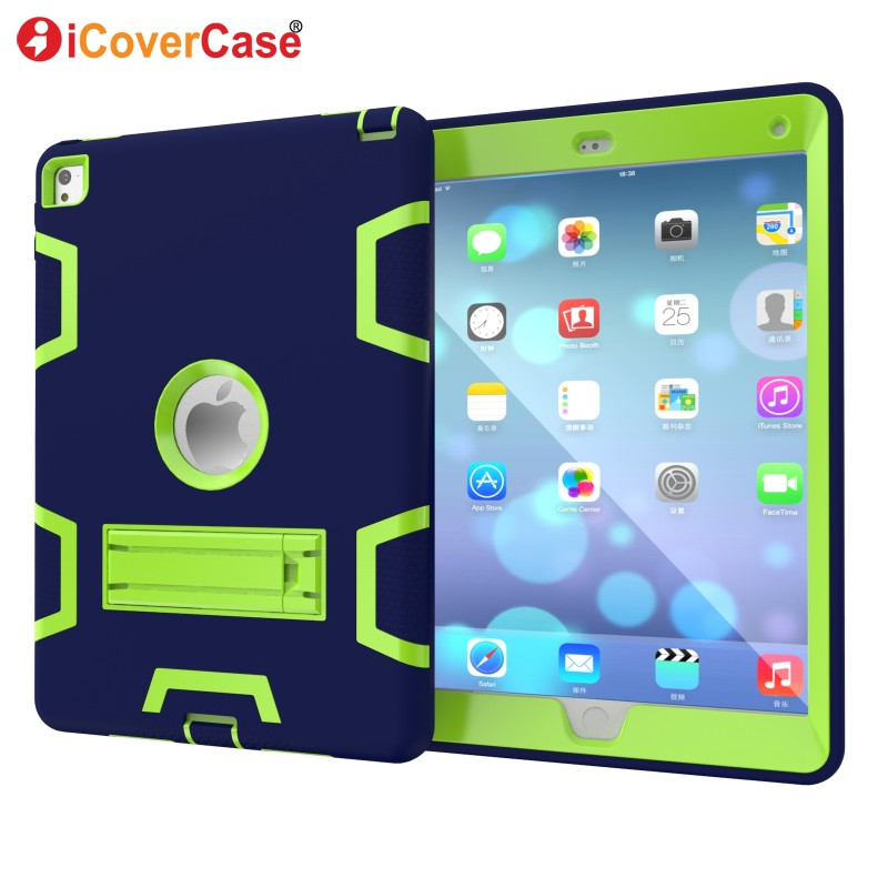 For Apple iPad Air 2 iPad 6 Case Pad Cover Soft Hard Protector Skin Cases Stand Front Back Protect Shell Tablets Accessory iPad6 ...