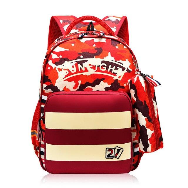 SUN huit 15 pouces sac enfant garçon Trvel sac à dos école sac à dos porte-crayon cadeau garçon sac à bandoulière enfants sacs décole Camouflage
