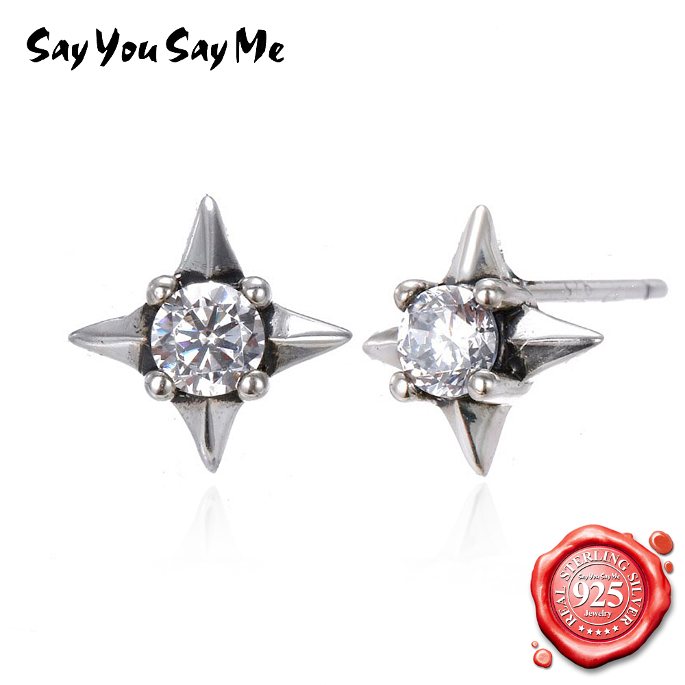 Say You Say Me Star Stud Earrings Fashion Style 925 Sterling Silver Earrings Casual wearing Party King Dropshipping Wholesales