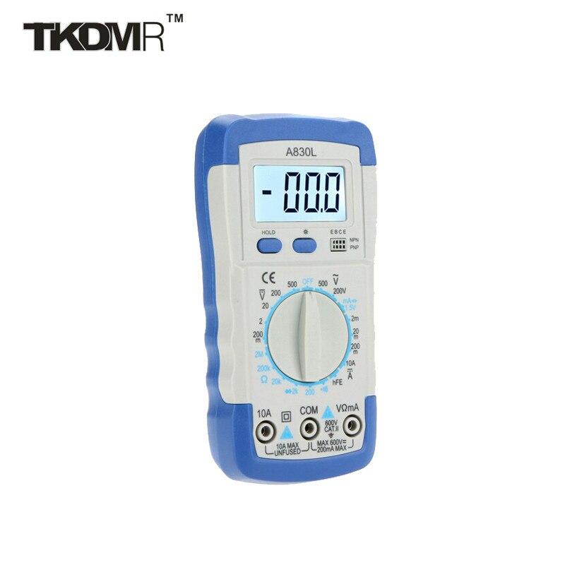 3 Color DMM Digital Multimeter A830L Ammeter Multitester Voltmeter Megohmmeter Ohmmeter hFE Current Tester w/ LCD Backlight