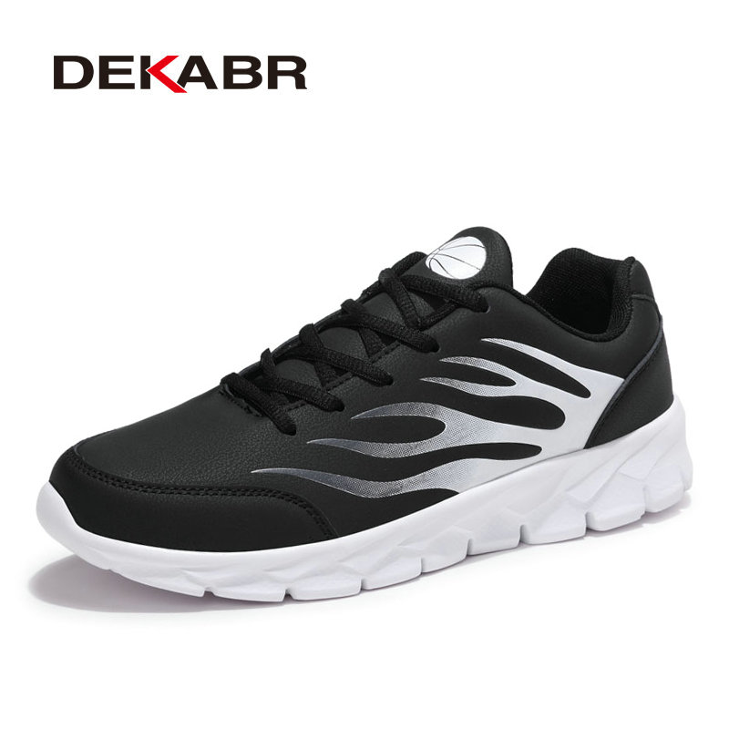 DEKABR New Handmade High Quality Men Casual Shoes Lace-up Pu Leather Shoes Fashion Summer Comfortable Men Shoes Big Size 38~48 dxkzmcm genuine leather men loafers comfortable men casual shoes high quality handmade fashion men shoes