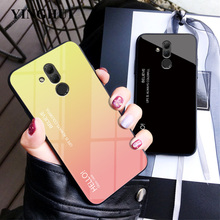 On Mate20 Lite 20lite For Huawei Mate 20 Case Cover Luxury Gradient Tempered Glass Phone Cases Coque