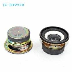 2 pces 4 ohm 3 w alto-falante 52mm redondo 40mm borda de espuma magnética externa tampa brilhante preto altura 30mm