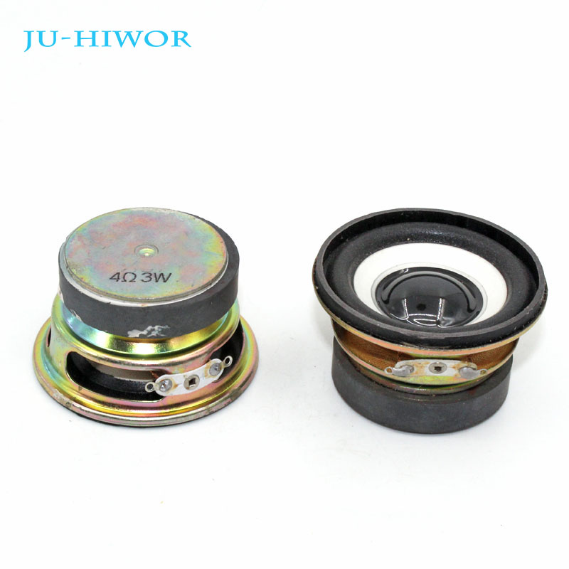 2pcs 4 Ohm 3W Loudspeaker 52MM Round Speaker 40MM External Magnetic Foam Edge Black Bright Cap Height 30MM