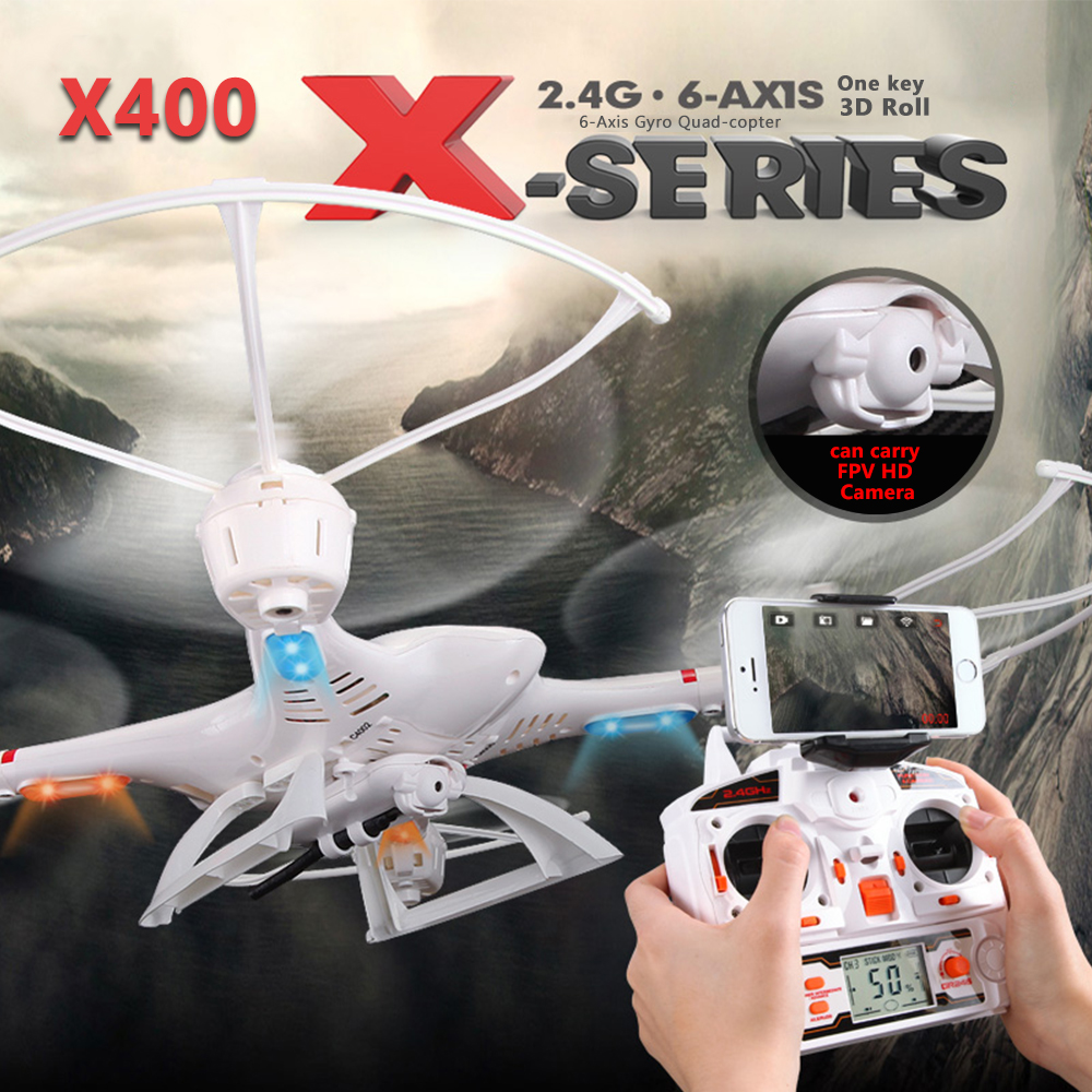 ФОТО MJX X400 RC Drone 2.4G 4CH 6-Axis Remote Control RTF RC Helicopter Quadcopter With C4005 HD Camera FPV Free shipping