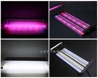 Затемнения 8 рядов полный спектр трехцветный светодиодный аквариум aquario лампа с гибким зажимом свет для аквариума водные растения