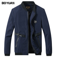 BOYUAN Bomber Jacket Coat Male Casual Jacket Men 2017 Spring Autumn New Fashion Outerwear Coat Men