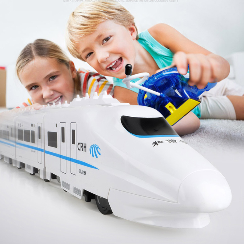 1 Set 82cm CRH RC Train Toys Electric Remote Control Train China Railway High-speed Trains Model RC Toys for Children Gifts storage cable