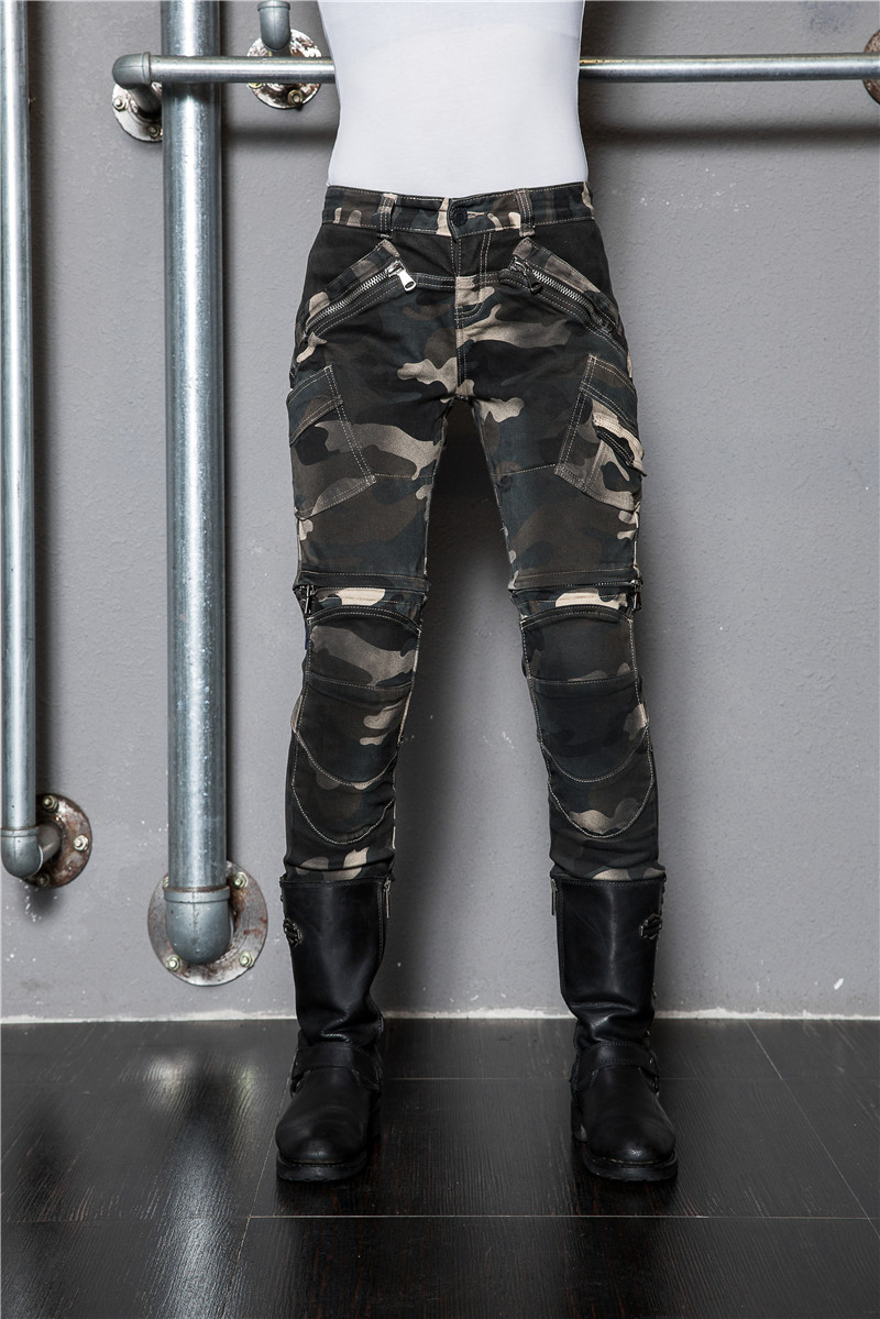 2017 Uglybros Camouflage Motorcycle Jeans Shorts Locomotive Protective Pants Women's moto Pants Removable Protector Racing Pants