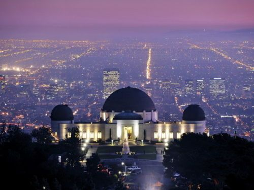 4687 griffith observatory los angeles paysage urbain wall. Black Bedroom Furniture Sets. Home Design Ideas