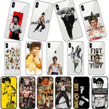Bruce Lee Chinese kung fu Soft TPU Silicone Phone case For iPhone 11 11Pro MAX X XS Max XR 5 5S SE 6 6S 7 8 Plus Coque Capa(China)