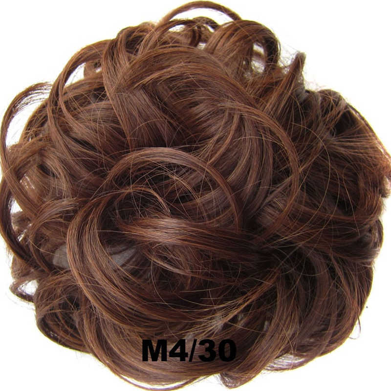 Women Tiara Satin Curly Messy Wavy Hair Bun Extension Elastic Hair Tie Hairpiece Wig Hair Bands Fashion Hair Scrunchie