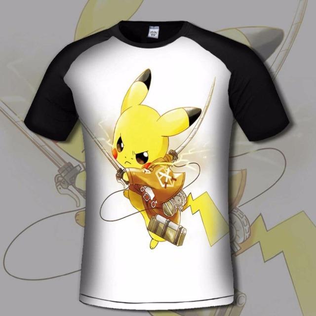 Calidad de Impresión 3D anime pokemon Ir de Lycra Camiseta de algodón Suave flexible camisetas jugador casual clothing o-cuello corto manga t camisa
