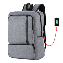 цены New Fashion Business Large Capacity Laptop Men's Backpack USB Charging Leisure Travel Bagpack Male Bag Men Luggage Packbag Gray