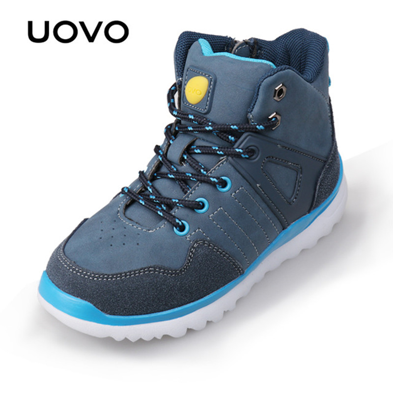 UOVO 2017 New Arrivals Autumn Winter Kids Casual Sneakers Light-weight Fashion Boys Shoes Lace-Up Casual Shoes For Eur 29#-37#