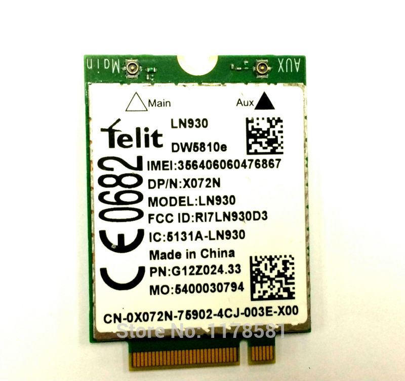 SSEA New Wholesales for DELL LN930 DW5810e 4G LTE Mobile WWAN Card 4G/LTE/DC-HSPA+ 4G wireless module цена