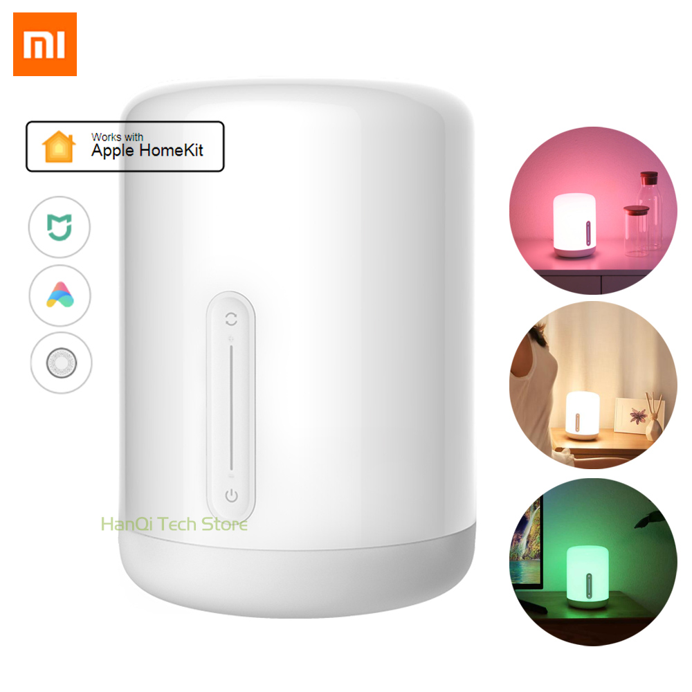 New Arrival Original Xiaomi Mijia Bedside Lamp 2 Bluetooth WiFi Connection Touch Panel APP Control Works