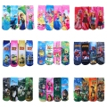 6Pcs/1lot Kids Cartoon Socks Boys Girls Character Print Socks In Tube New Year Socks 2017 New Baby Clothing For 2-14 Years GZ25