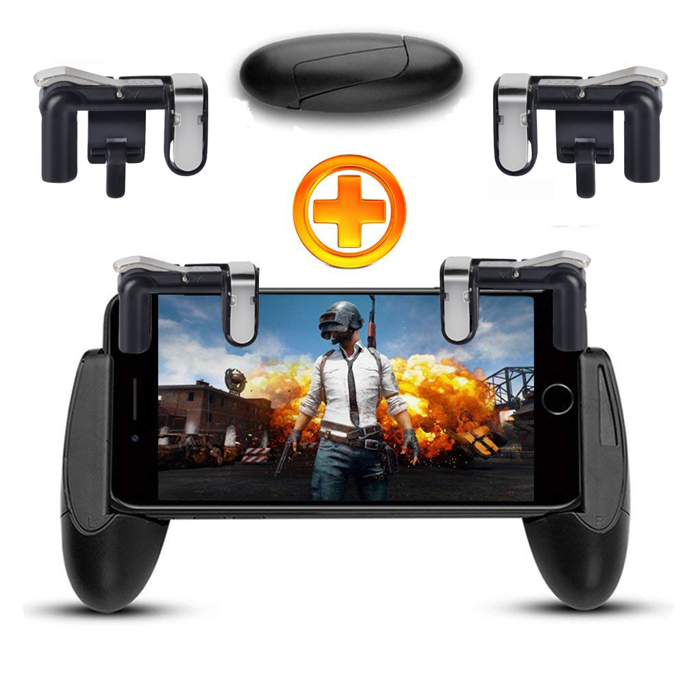 Mobile phone Game Fire Button Controller and joystick Survival Game grip R1L1 Triggers for Knives Out/PUBG/Rules image