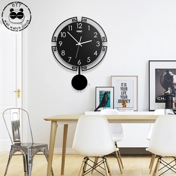3D Large Wall Clock Silent Digital Modern Design Acrylic Home Decoration Black Quartz Watch Clocks