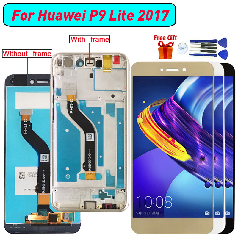 For <font><b>Huawei</b></font> P8 Lite <font><b>2017</b></font> P9 Lite <font><b>2017</b></font> Display LCD <font><b>Screen</b></font> Digitizer Assembly For <font><b>Huawei</b></font> Honor 8 Lite Nova Lite <font><b>GR3</b></font> <font><b>2017</b></font> display image