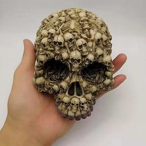 Image 1 - Silicone Mold Lots Horror Skull Halloween Cake Decorating Tools DIY Skull Candle Chocolate Gypsum Silicone Mold