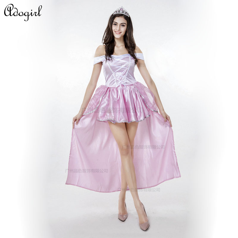 Adogirl 100% Real Photos Snow White Princess Dress Uniforms Sleeping Beauty Fairy Costume Halloween Cosplay