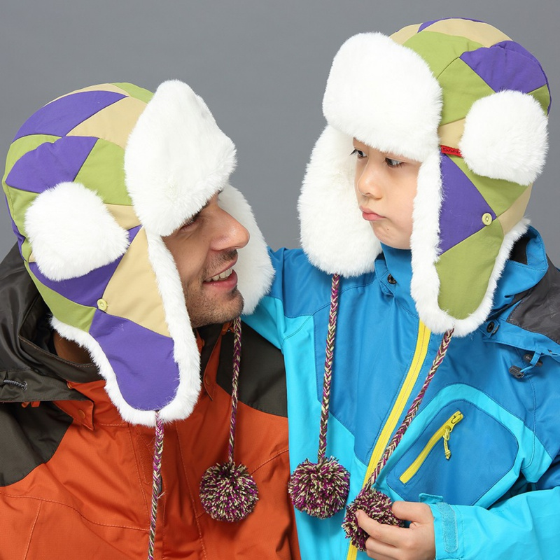 Winter Warm Earflap Female Bomber Hats Women Russian Trapper Thermal Hats Snow Ski Caps