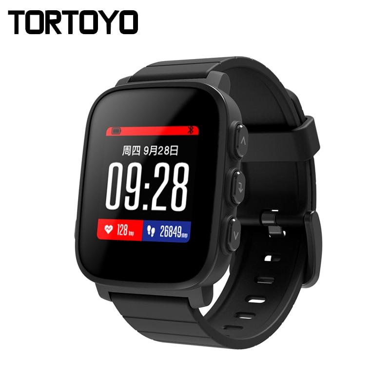 Montre intelligente TORTOYO SMA Q2 Bluetooth 4.0 moniteur de fréquence cardiaque avec montre intelligente sport Fitness pour iPhone Android