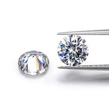 2 sztuk luźny moissanit 0 5 carat 5mm IJ kolor doskonały Brilliant cut jasności VVS1 okrągły kształt Moissanite pierścień materiał tanie tanio KALALA WHITE none excellent 0 5 carat pcs Grzywny IJ color 2 pcs