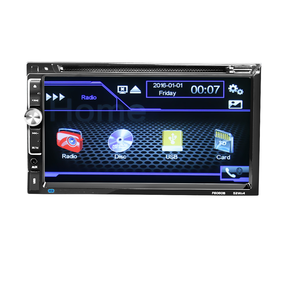 "6060B Universal  2 Din Car DVD player 6.95"" Car Autoradio Video/Multi Media MP5 Player mp4 Car Stereo audio player-in Car CD Player from Automobiles & Motorcycles"