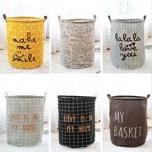 цены на Waterproof dirty clothes basket laundry baskets foldable kids laundry basket baby toy organizer basket в интернет-магазинах