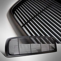 US Horizontal Billet Front Hood Bumper Grill Grille For 02 05 DODGE RAM Black
