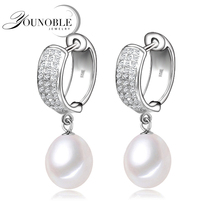 YouNoble small silver hoop earrings for women,wedding fashion jewelry daughter girl best gift top quality white