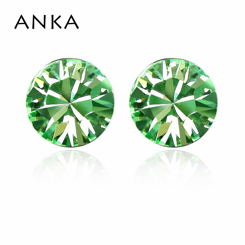 ANKA Trendy Round Sale New Pendientes Brinco Earrings Crystal made with Czech crystal Diameter 0.55cm with Rhodium plated #82321