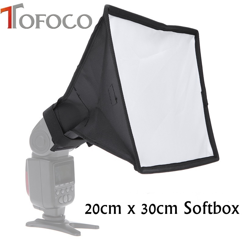20cm x 30cm Photo Flash Speedlite Universal Box difuzor difuzor Softbox Cutie moale pentru Canon Nikon Off-Camera TOFOCO