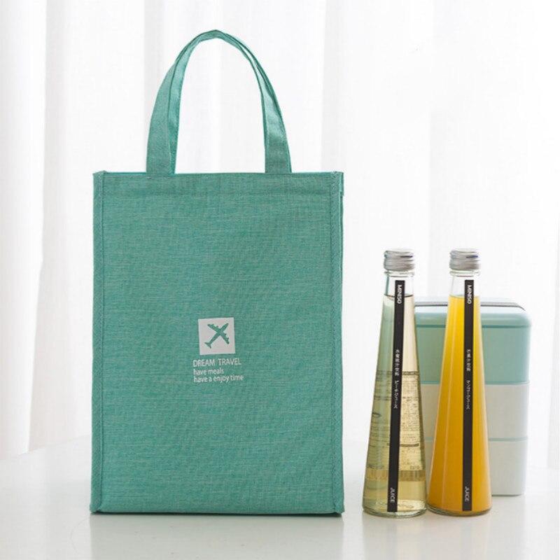 1 Pcs Lunch Bag Wasserdichte Oxford Tragbare Isolierte Thermische Kühler Box Oxford Mittagessen Lebensmittel Tasche Picknick Container S Spezieller Sommer Sale