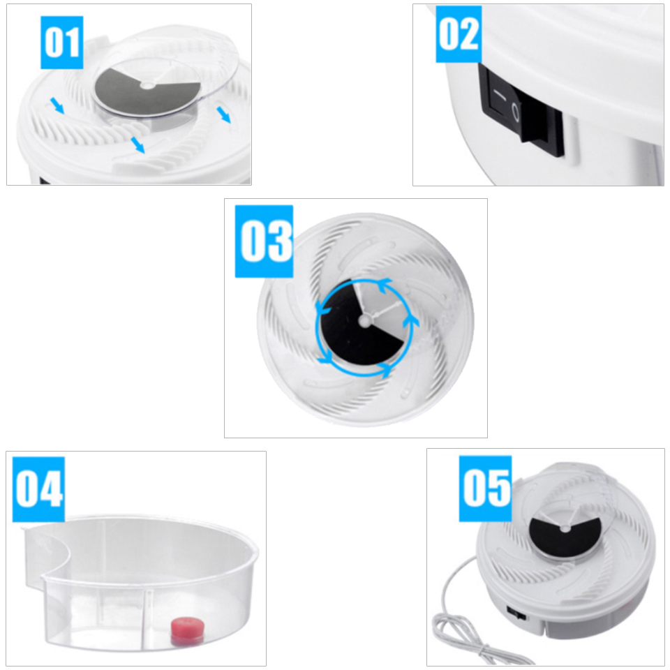 Image 4 - Electric Flycatcher Automatic Fly Trap Device With Trapping Food Fly Catcher/Trapper Pest Insect Flytrap USB Type  Fly Trap Bait-in Traps from Home & Garden