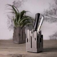 Цементная ручка airplant поддерживающая подсвечник Городской украшения Конструкторы оригинальный Настольный подсвечник силиконовая форма