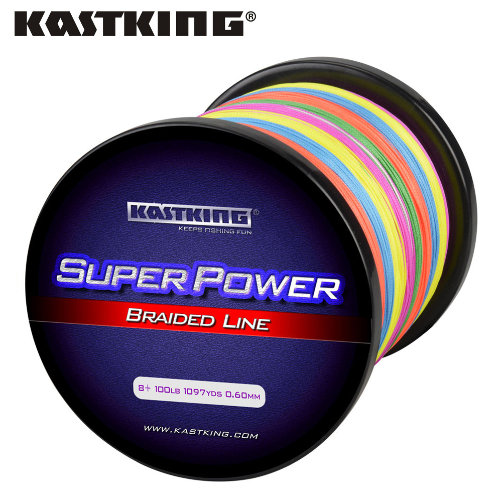 KastKing 8 Strand Braided Fishing line 1000m Multi Color/white yellow/green Super Strong Japan Multifilament PE braid line