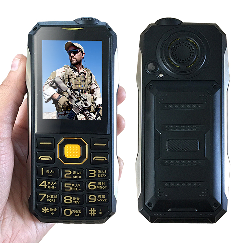 Shockproof whatsapp mp3 mp4 <font><b>power</b></font> bank bluetooth 3.0 flashlight FM black list internet rugged mobile phone P004