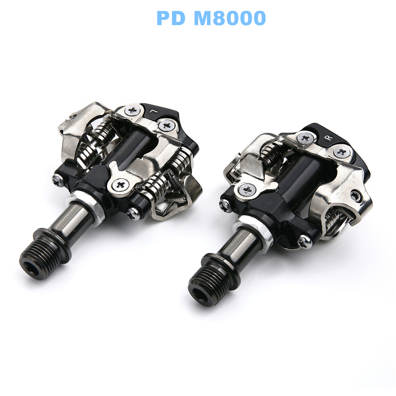 Pédale vtt vélo SPD pour SHIMANO DEORE XT PD M8000 pédales Clipless auto-bloquantes avec crampons VTT pédales Bicicleta