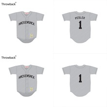 8f68803b1a60 custom Youth Charley Pegler 1 Hackensack Brewster s Millions grey Throwback  Movie kids Baseball Jersey stitched(