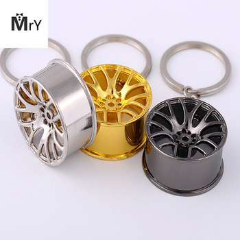 New 2017 Fast And Furious 8 Key Chains High Quality Metal 3D Car Hub Keychain Bag Pendant Jewelry Cool Wheel Rim Keyring Holder image